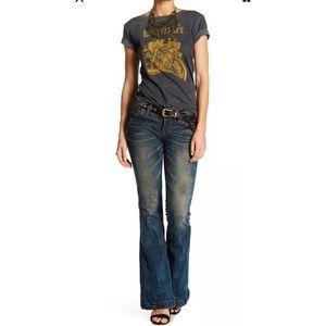 AFFLICTION Women's Denim Jeans GINGER RISING FLORE
